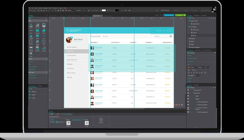 Enterprise web application prototype