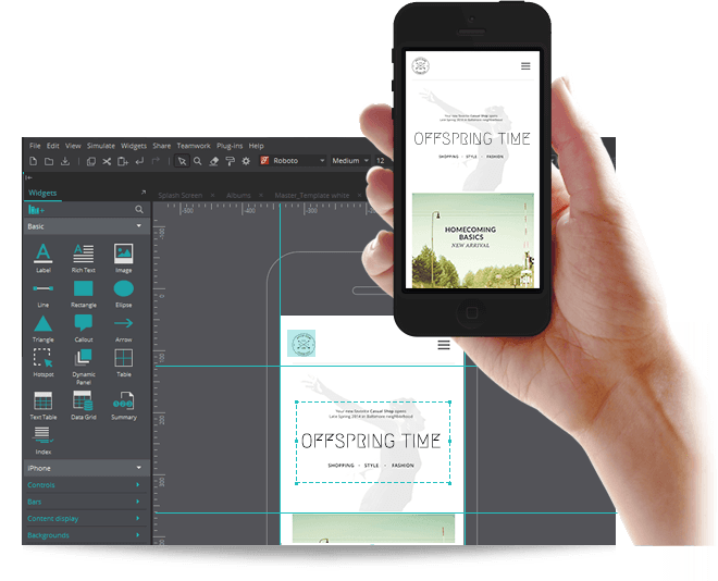 From clickable mockups to a prototypes