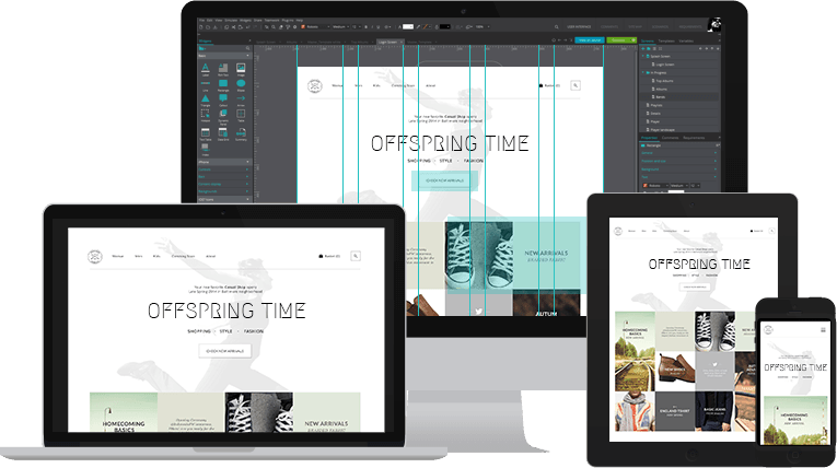 One wireframe all the screens
