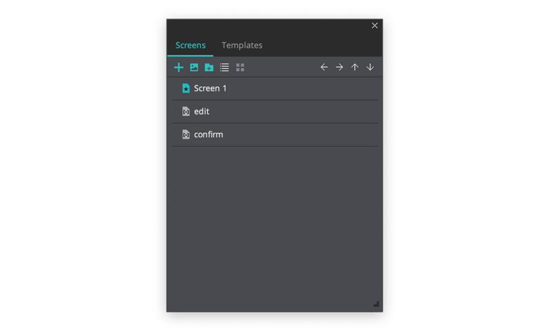 Create 3 screens in your prototype