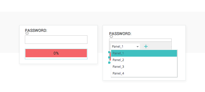 Password strength meter in prototypes: dynamic panels