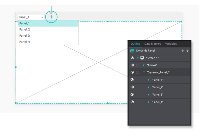 Interactive wireframes: slideshow space setup