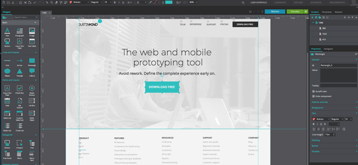 Justinmind-redesign-hi-fidelity-prototype-design-step