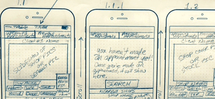 sharp-x-mobile-paper-prototyping-designs