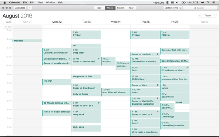 schedule on buffer remote team - ux process