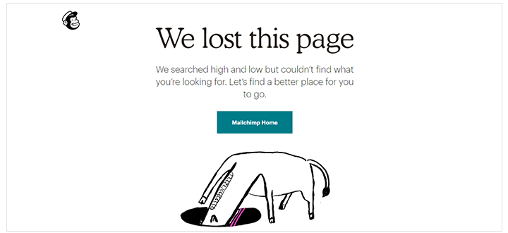 best-404-pages-mailchimp-simple-effective