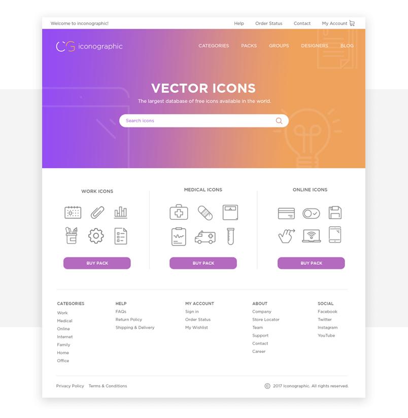 foundation-framework-ui-kit-prototype-websites-homepage