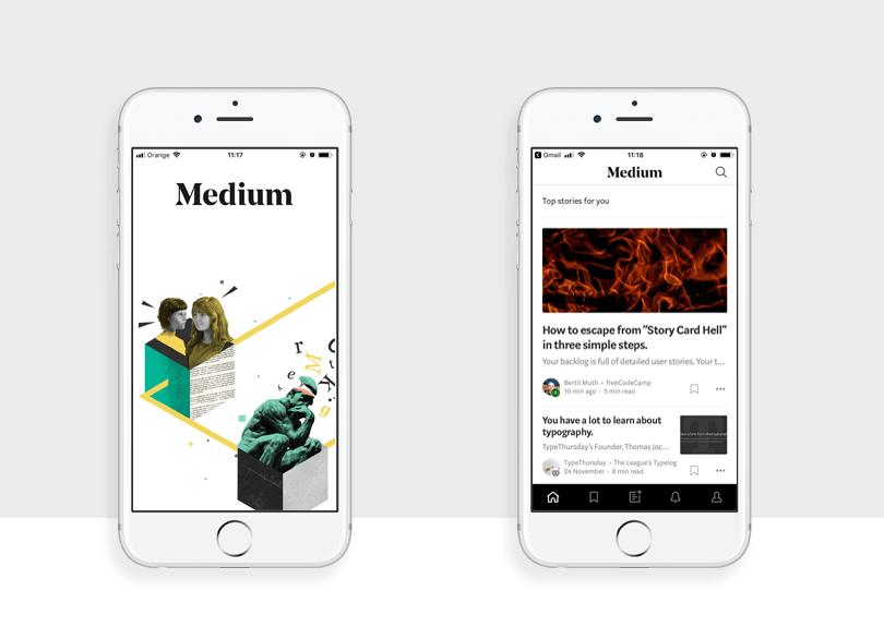 medium as one of the best app designs of 2017