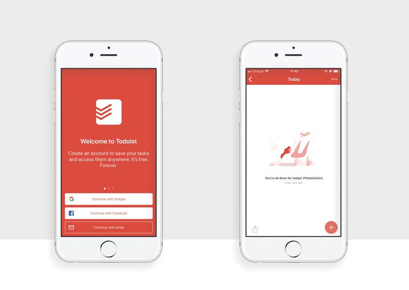 todoist example of best app design of 2017