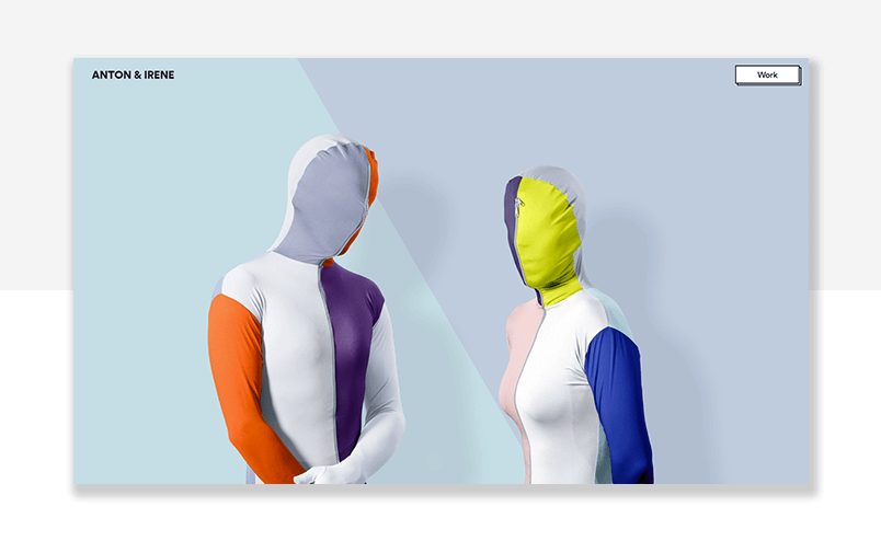 parallax effect example - UX design agency