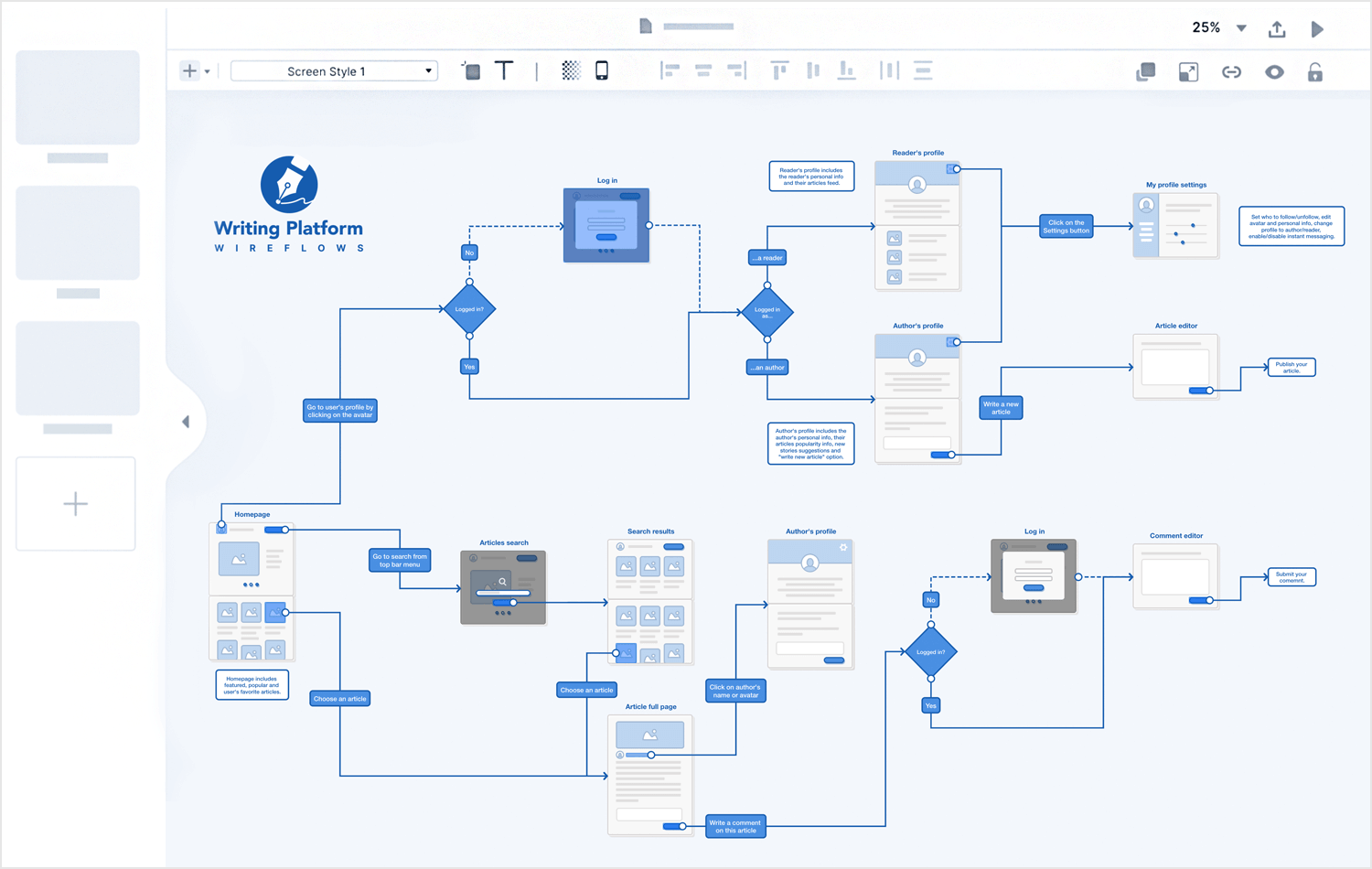 Overflow - 10 user flow tools - Justinmind