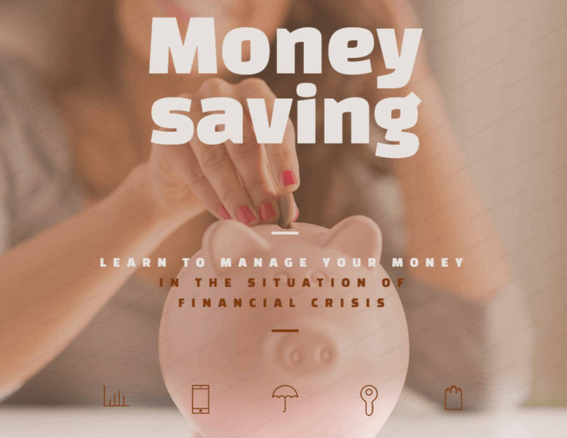 money saving example of parallax scrolling effect