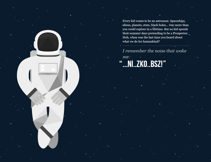 nasa prospect example of website with parallax effect
