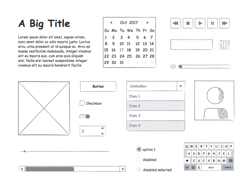 sketching-wireframe-justinmind-ui-kit-prototyping-tool