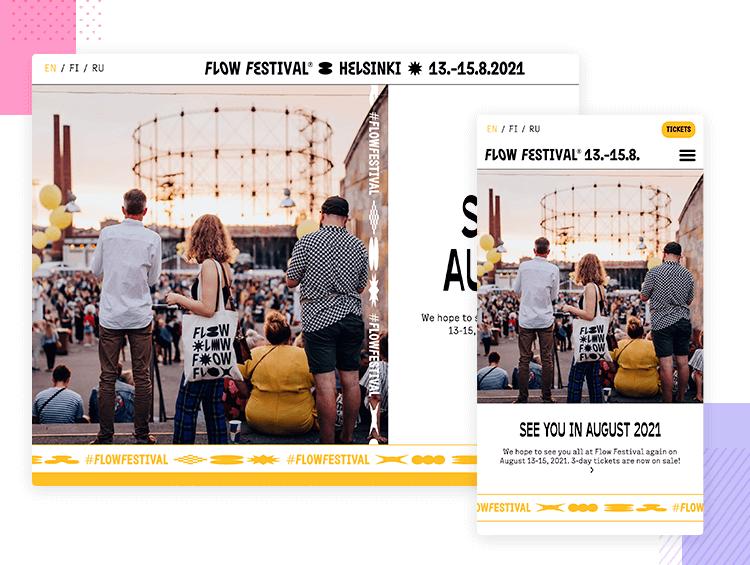Flow Festival - Responsive website examples - Justinmind