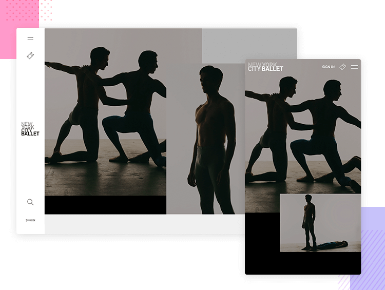New York City Ballet - Responsive Web Design - Justinmind