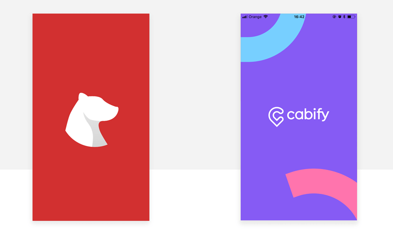 cabify splash screen design example