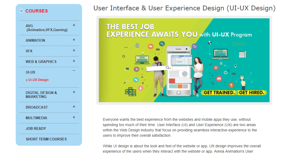 certificate in UX course in bangalore india