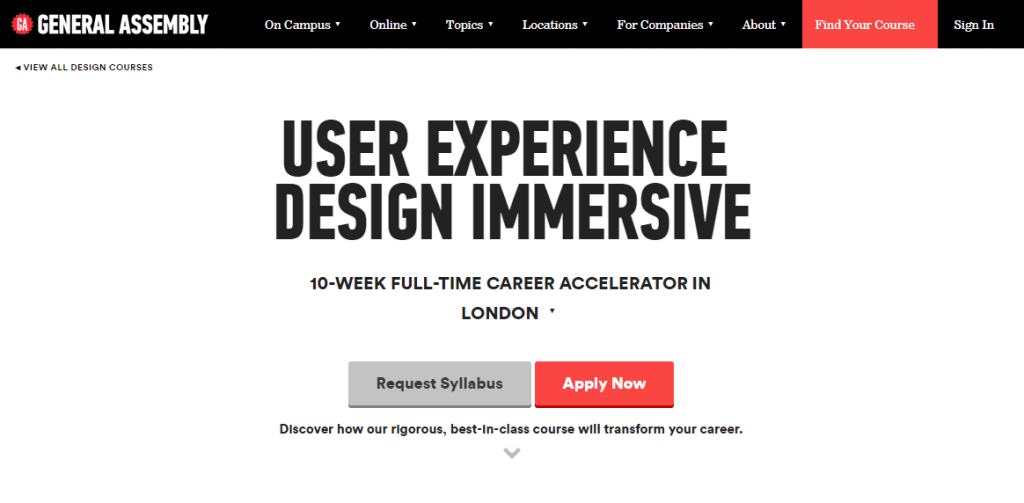 ux design course at general assembly in london