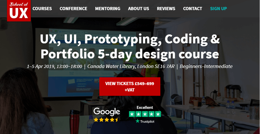 ux design course in london - school of ux