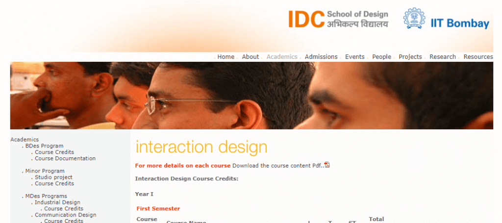 in classroom ux course in indian school of technology bombay