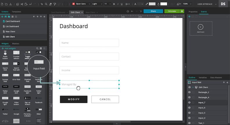 Add input text field
