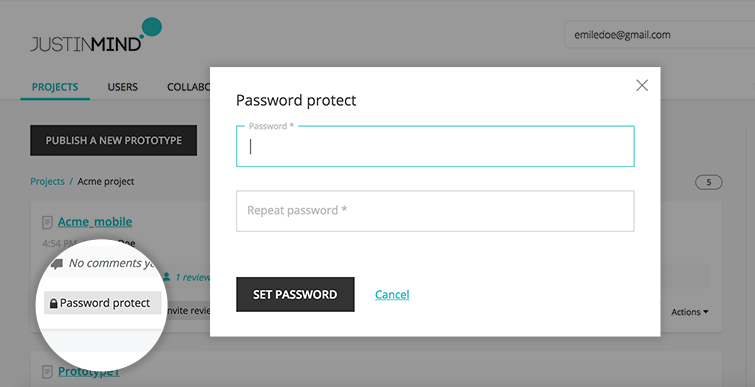 password protecting