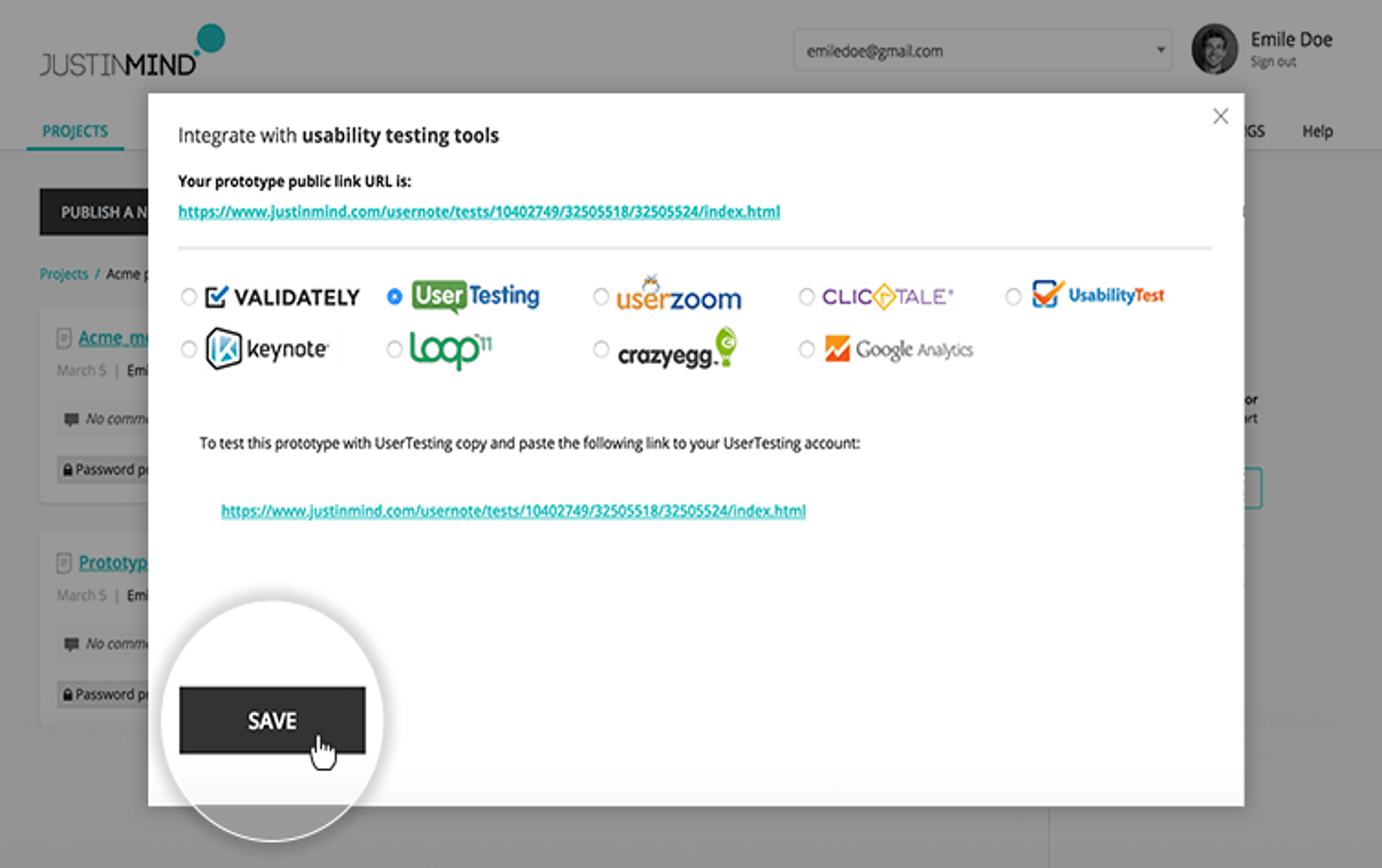 select user testing tool