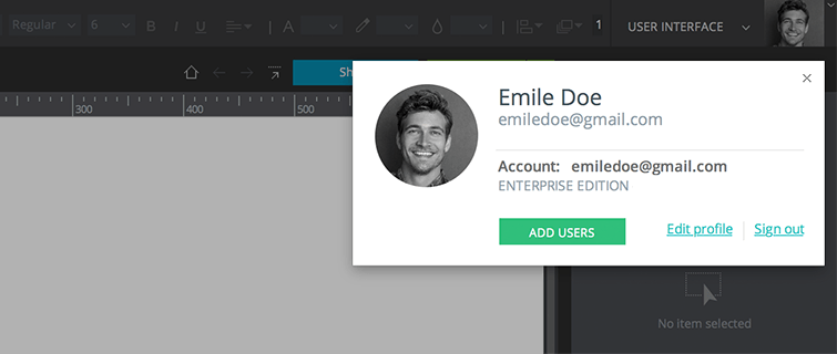 sign-in-justinmind-editor