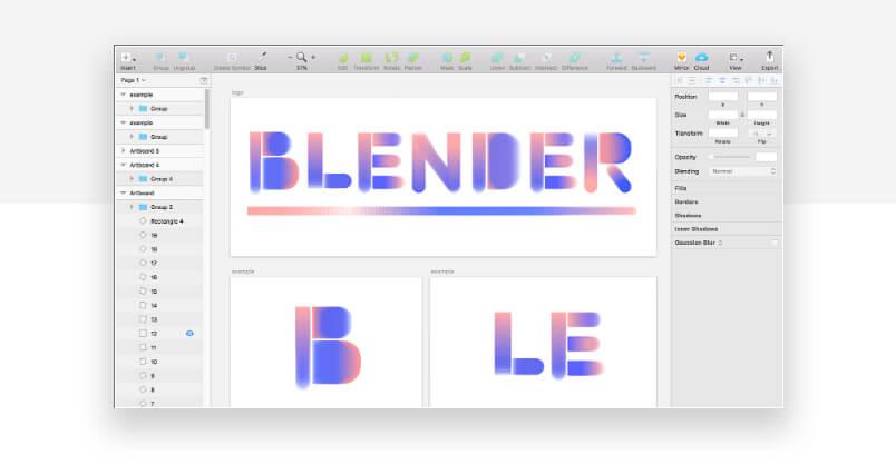 best sketch plugins - blender to blend colors
