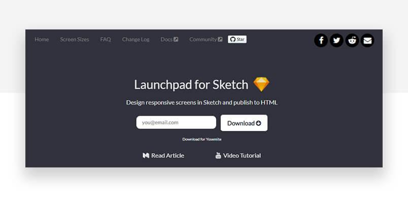 best sketch plugins - launchpad website top