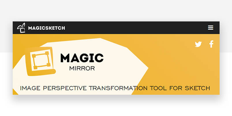 Sketch plugin - magic mirror website header