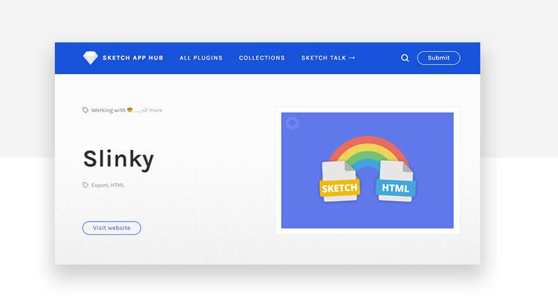 Best sketch plugins - slinky HTML converter