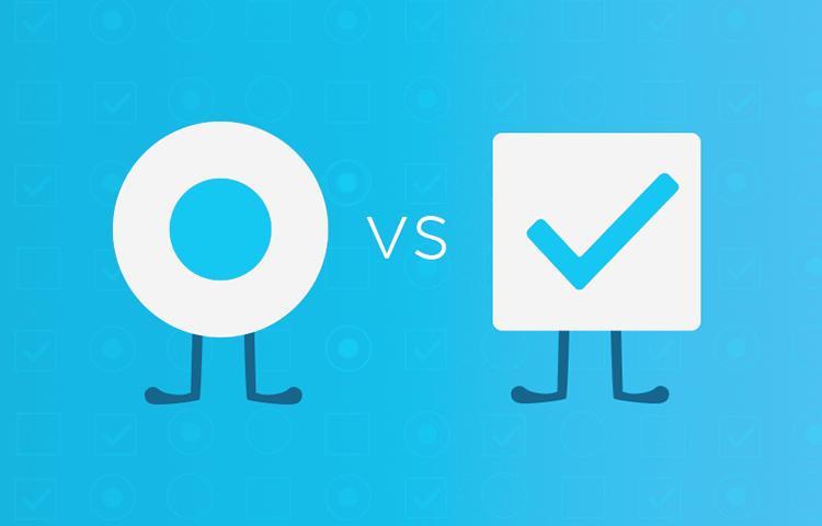 UI design battle: checkbox vs radio buttons
