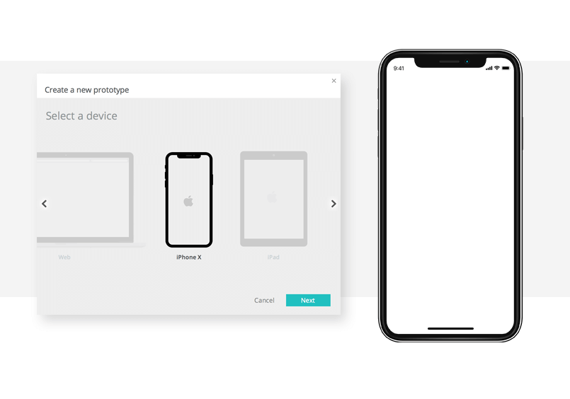iphone x device template from justinmind