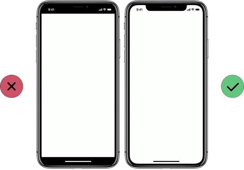 guidelines for designing for iphone x