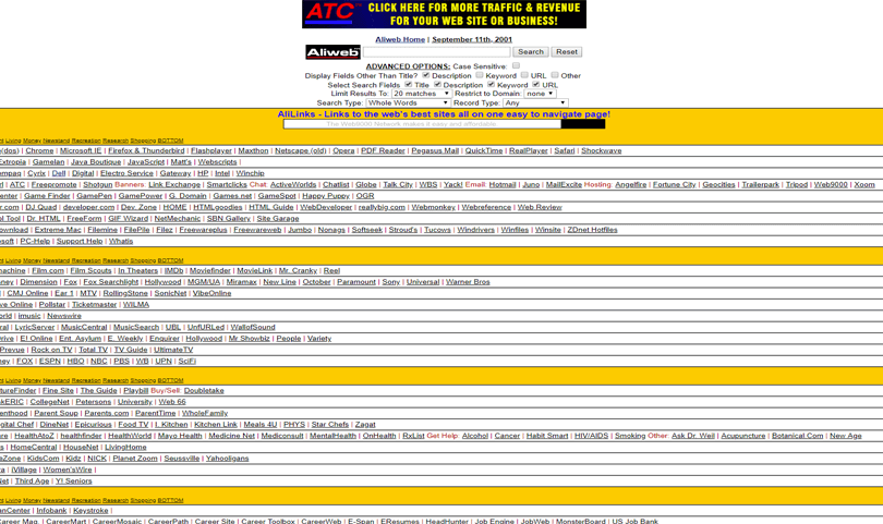 terrible website designs from 90s - atc