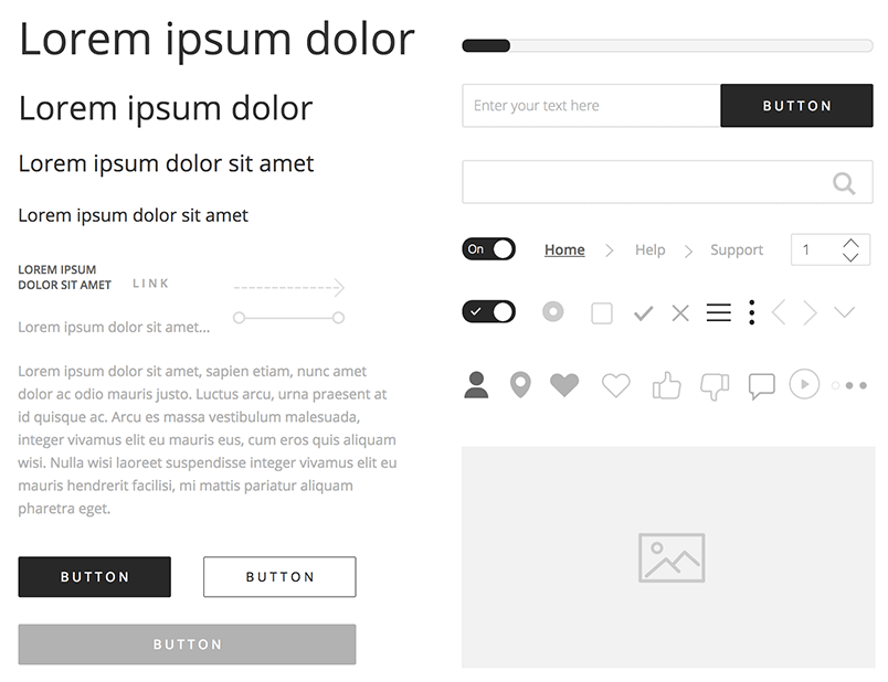 wireframe ui kit justinmind