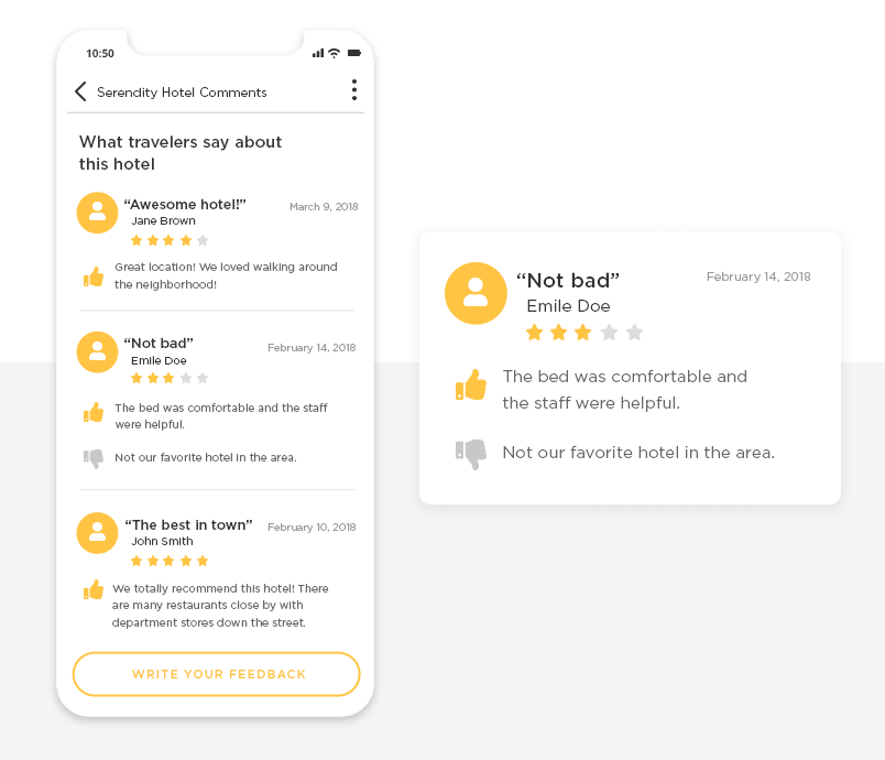 fontawesome ui kit - example of mobile app comments page