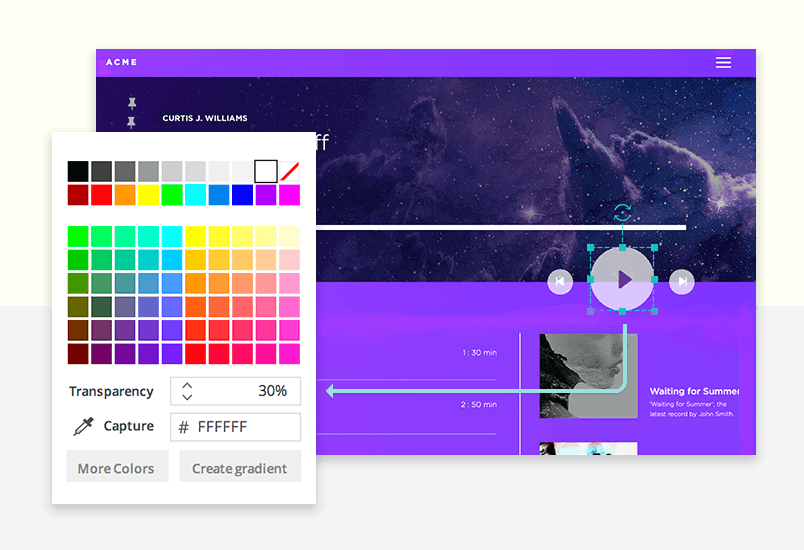 color picker for cookies in web design