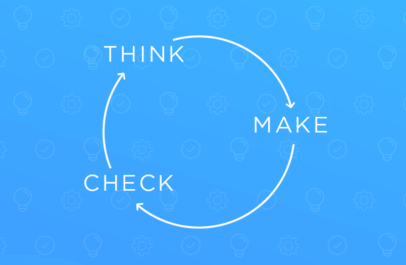 Think make check loop in lean ux design