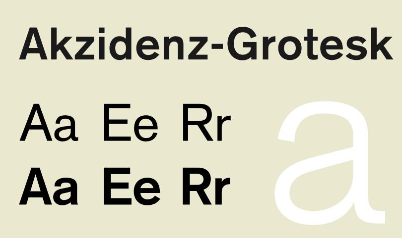 Swiss style in UI UX design - akzidenz grotesk specimen