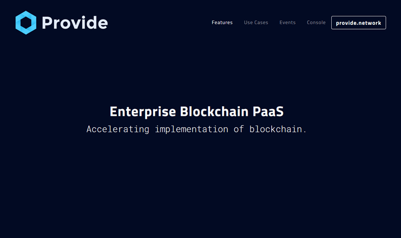 provide blockchain technologies homepage