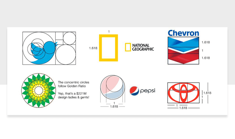 list of brand logos that use golden ratio