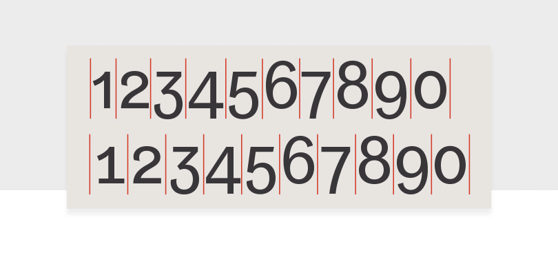 proportional-and-tabular-spacing-number-font-example