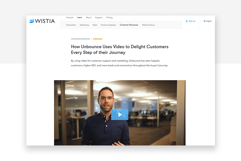 testimonial examples number seven - wistia in depth content