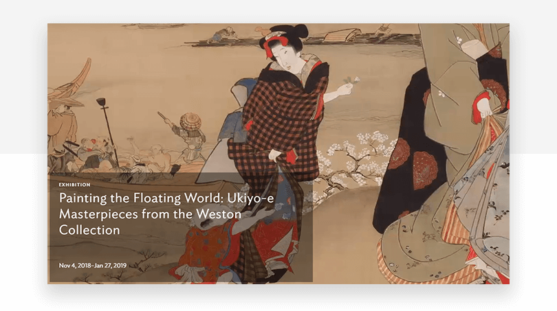 Art Institute of Chicago's new hero video - website redesign - Justinmind