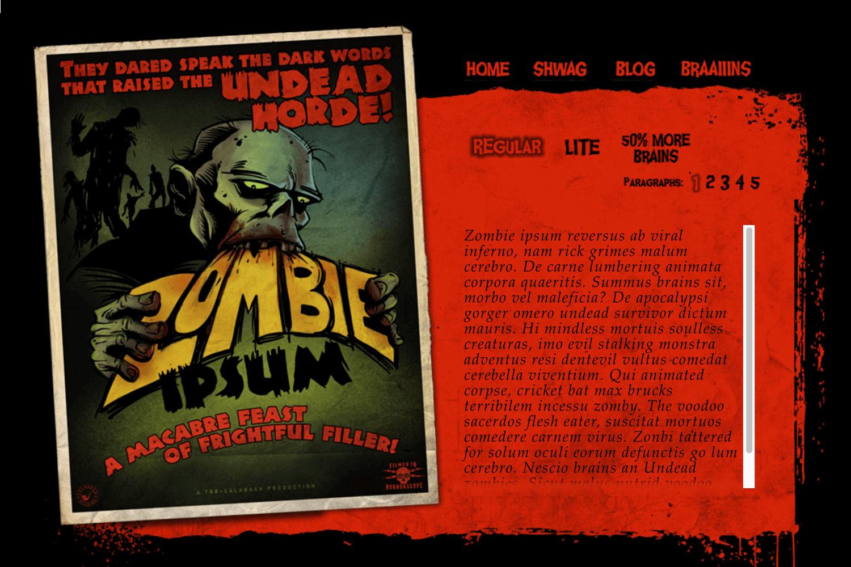 zombie ipsum as entertaining filler text