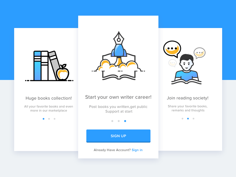 user onboarding concept - not overloading users