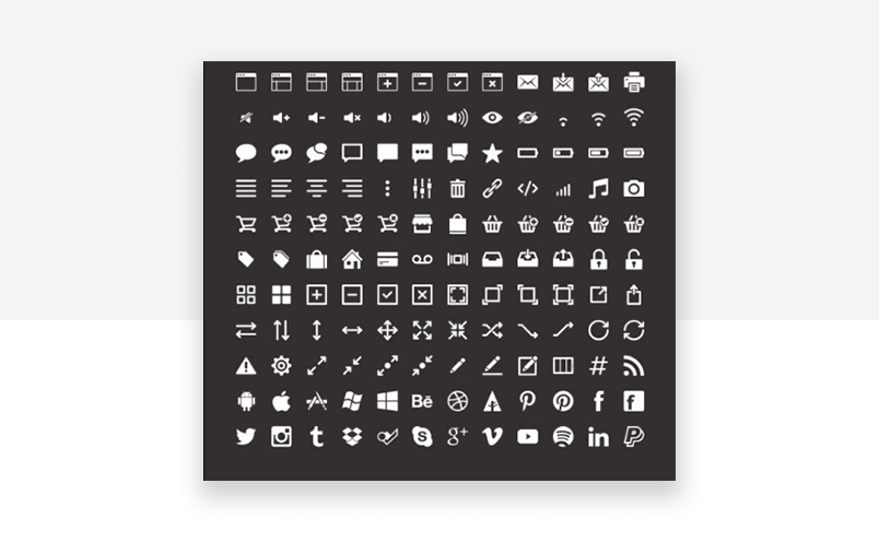 Versatile UI components website icons - free